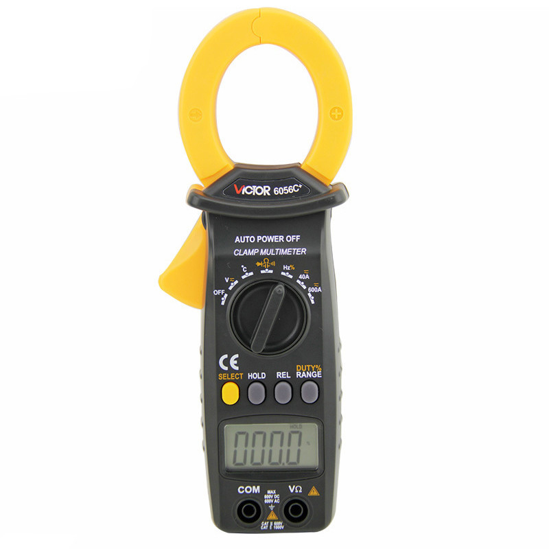 Victory VC6056C+ Digital Clamp meter AC/DC Clamp Meter 600A measuring capacitance/frequency/temperature  vc6056d digital ac dc clamp meter 600a refrigerant special