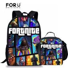 44a3b5085b0c FORUDESIGNS School Bags Fortnite Games Pattern School Backpack for Girls  Boys Orthopedic Schoolbag Backpacks Children Book