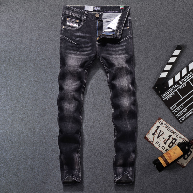 2019 New Dsel Brand men   jeans  ,Men Fashion skinny   jeans   men,Men Straight Fit Leisure Quality Cotton Biker   Jeans   Denim,702-B
