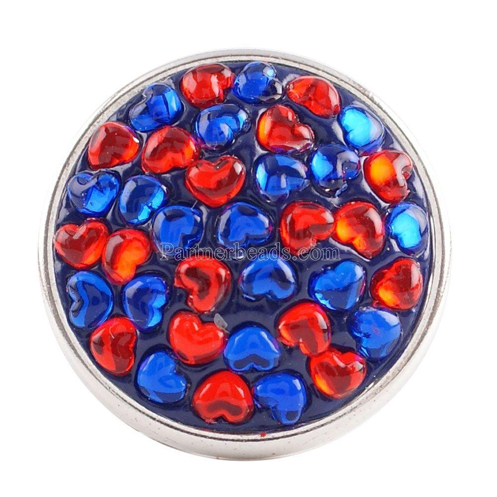 10pcs/lot Partnerbeads Handmade 18MM Rhinestone Snap Buttons For DIY Snap Pendant High Quality Charm Jewelrys Wholesale KC2796