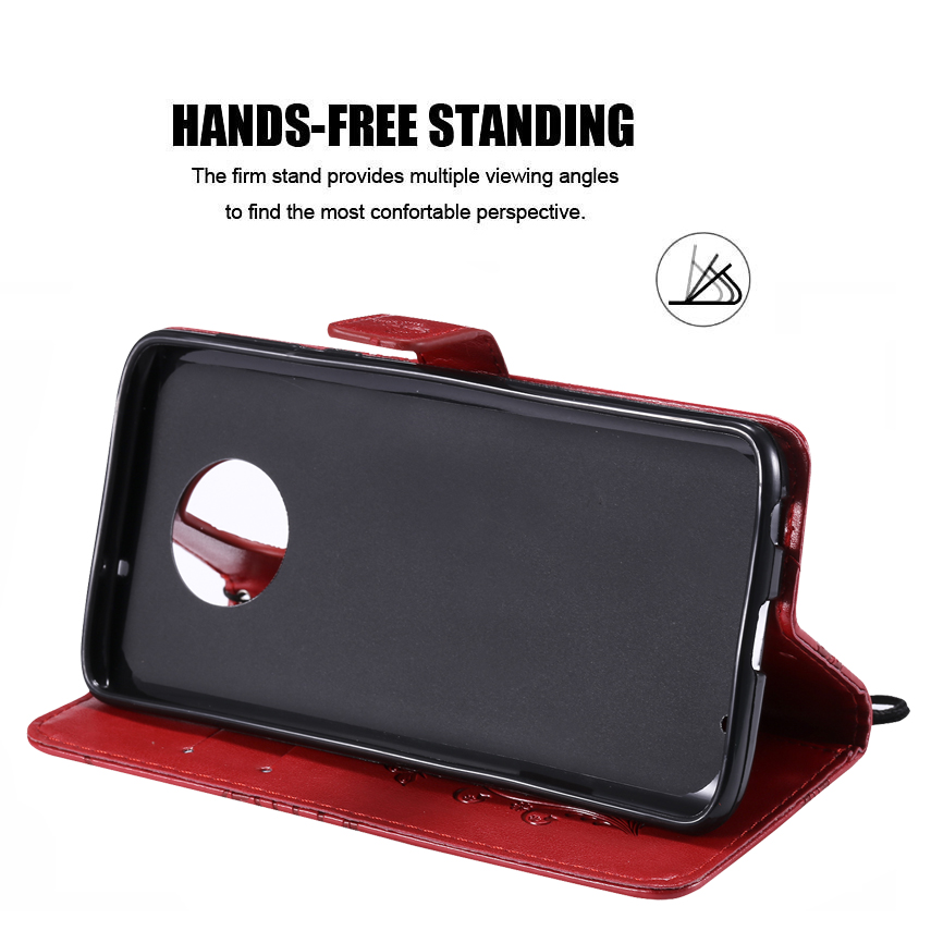 3D Flip Leather Wallet Stand Phone Case For Motorola Moto G6 Plus G5S G4 E4 C Plus E5 Z3 Play Z Force G2 Phone Cover w Card Slot (1)