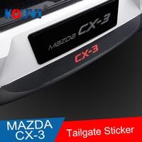 KOUVI PU Rear Bumper Protector Sill plate sticker For Mazda CX3 CX 3 car accessories