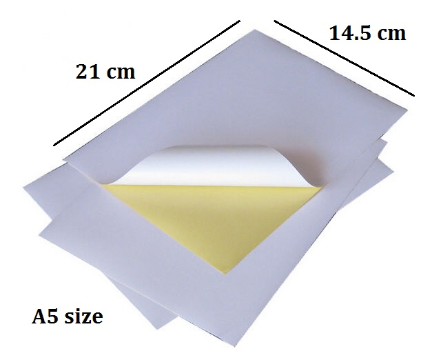 Matt White A5 Paper Sheet Printable Self Adhesive Sticker Label For Inkjet Printer 5 to 20 Sheets