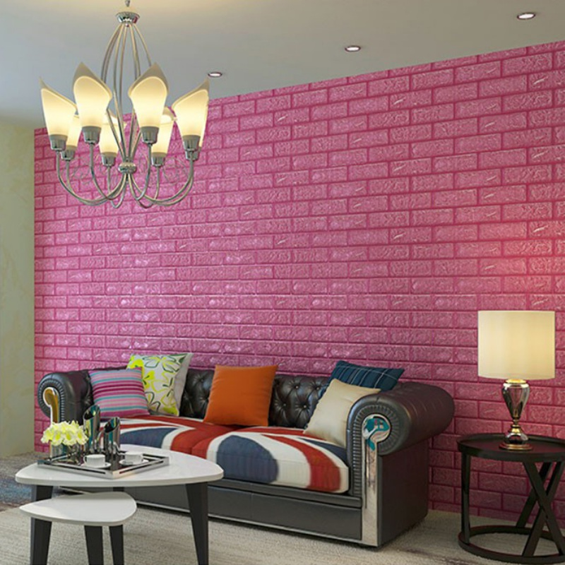 DIY Brick Wall 3D Sticker Living Room TV Background Decor Foam ...