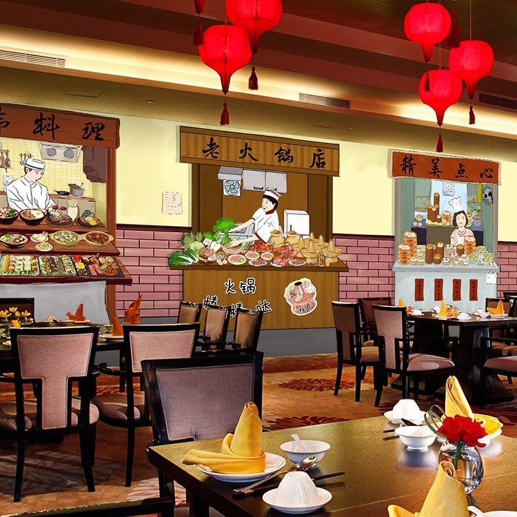 Foto wallpaper toko makanan ringan camilan jalan mural for Foto interior design