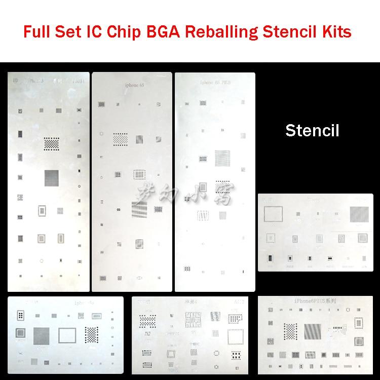 цены  high quality full set IC Chip BGA Reballing Stencil Kits Set Solder template for iphone 4 4s 5 5s 6 6s Plus