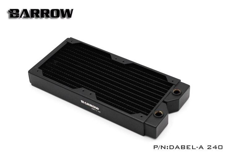 Barrow Dabel-A240 rame 240mm computer liquido scambiatore di calore di scarico Dell'acqua filo filettato radiatore per 12 cm fan
