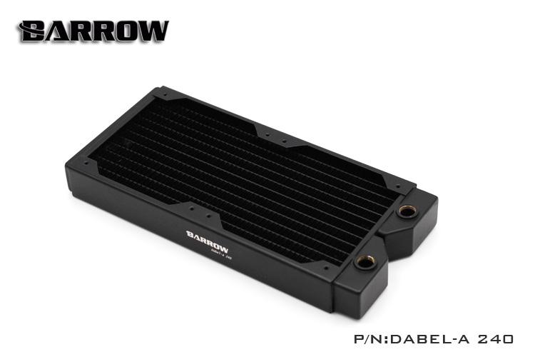 Prix pour Brouette de cuivre 240mm d'évacuation D'eau de l'ordinateur liquide échangeur de chaleur fil fileté radiateur pour 12 cm fans Dabel-A240