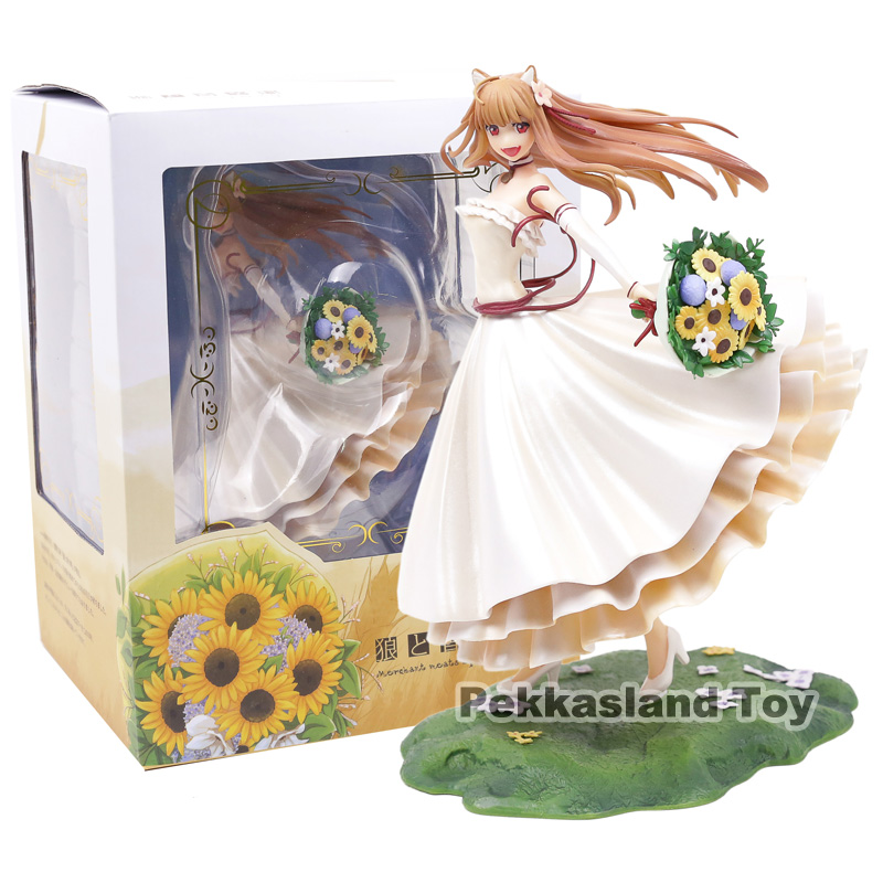 Spice and Wolf Holo Renewal Wedding Dress Ver. 1/8 Scale PVC Figure Collectible Model Toy 23CMSpice and Wolf Holo Renewal Wedding Dress Ver. 1/8 Scale PVC Figure Collectible Model Toy 23CM