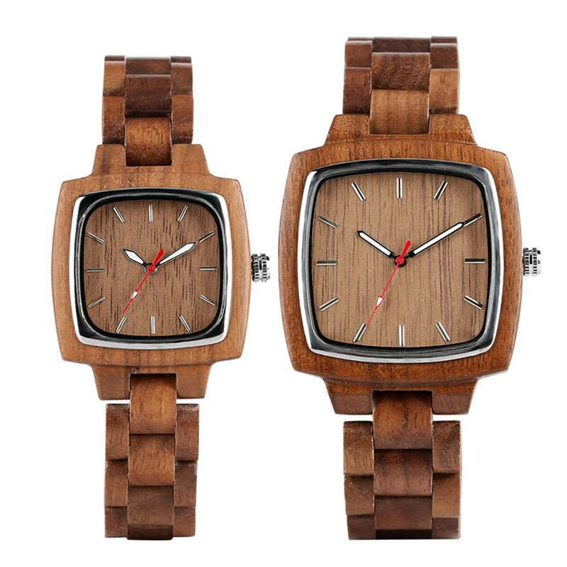 Unique Walnut Wooden Watches for Lovers Couple Men Watch Women Woody Band Reloj Hombre 2019 Clock Male Hours Top Souvenir Gifts 2019 2020 2021 2022 2023 (31)