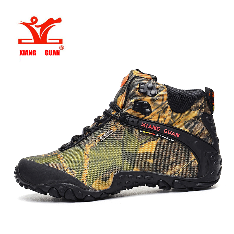 XIANGGUAN Man Hiking Sneakers Waterproof Men Climbing Shoes Breathable Trekking Boots For Outdoor Walking sapatos ao ar livre sale outdoor sport boots hiking shoes for men brand mens the walking boot climbing botas breathable lace up medium b m