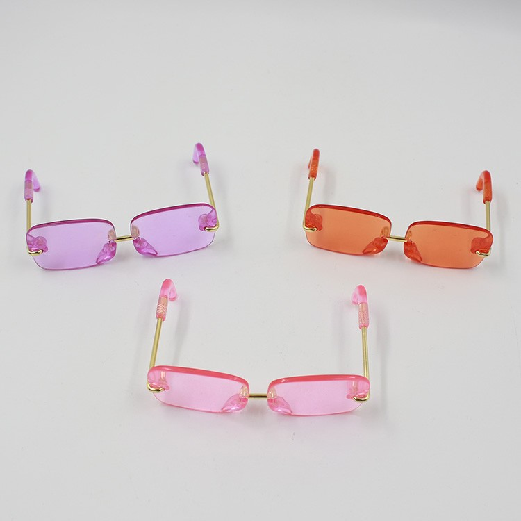 Neo Blythe Doll Heart & Boxes Shaped Glasses 4