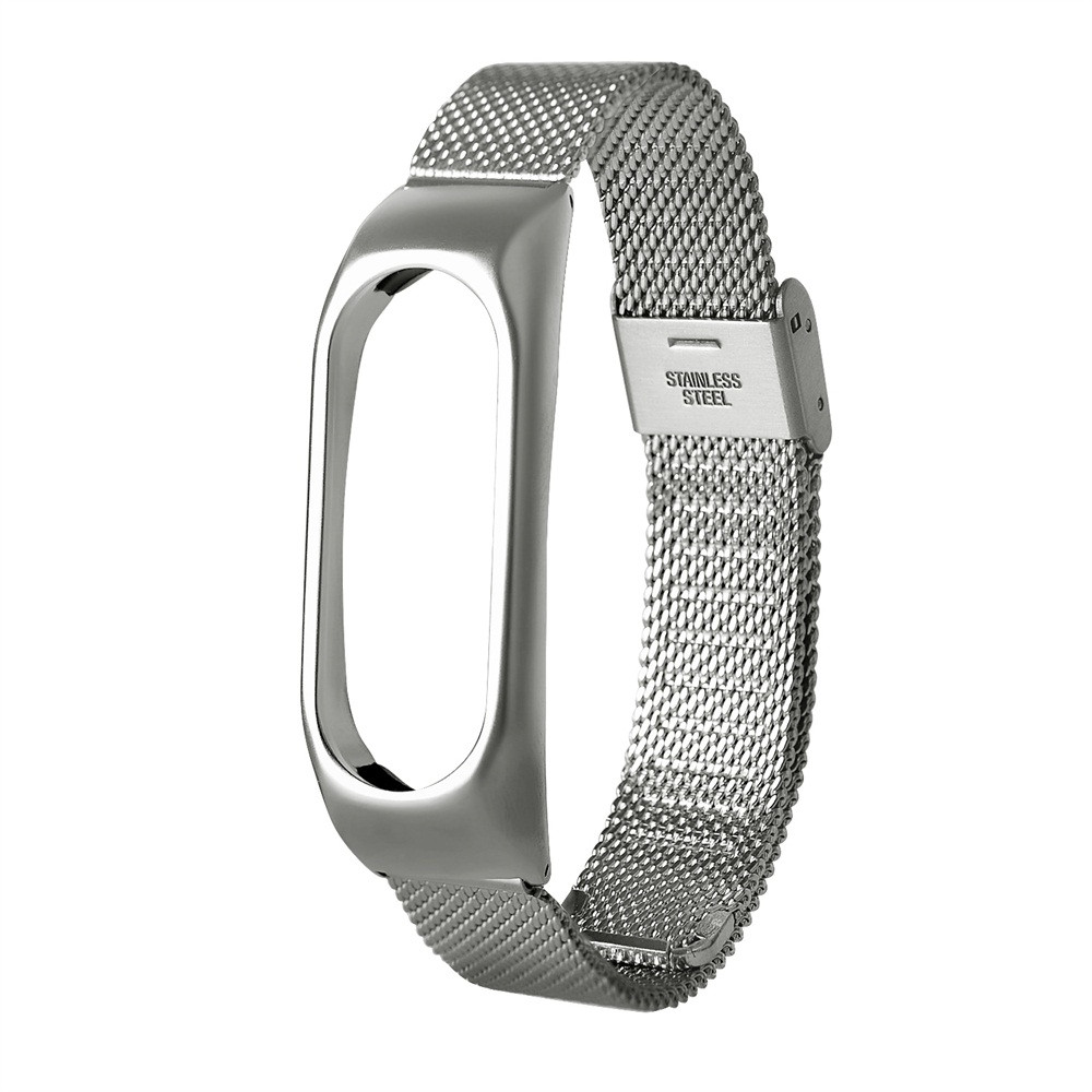 Hot! Hot! Hot! Fashion Lightweight Stainless Steel Smart Wrist Watch Strap For Xiaomi Miband 2 dropshiping Y7810 original xiaomi steel net watch band for miband