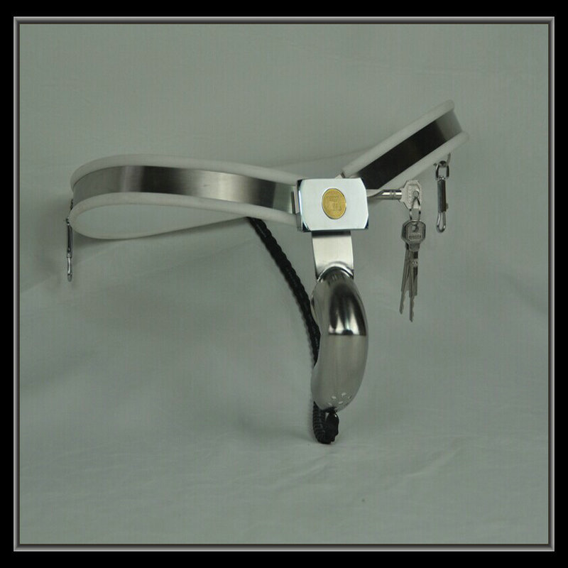 2016 new white Arc waist male chastity belt bending penis cage male chastity device cock ring with Single line chastity cage 2017 stainless steel chastity belt cock cage male chastity device penis bondage arc waist chastity male device penis cage formen