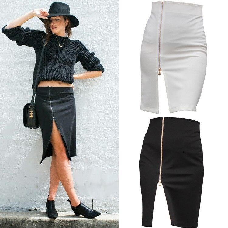 Uwback 2017 New Brand Summer Skirt Women Plus Size Wrap Pencil Sexy White Office Midi Women Skirt White Work Skirts 4XL TB489