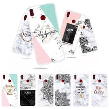 Marble Flower Phone Case For huawei honor 8x Soft TPU Back Cover For huawei honor 8x 6.5 inch Silicone Cases Coque shell marble flower letter phone case for huawei honor 9 lite soft tpu back cover for huawei honor 9 silicone cases coque shell