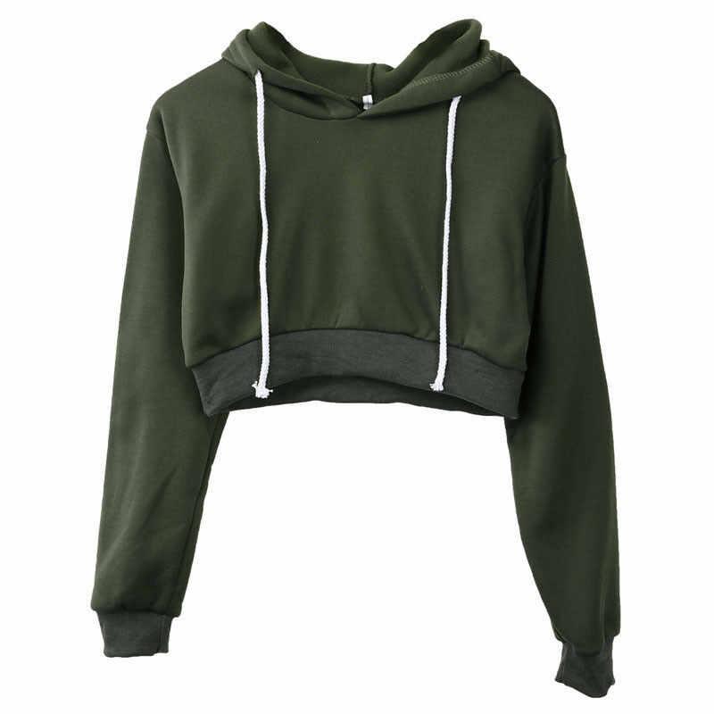 Nueva moda Casual para mujer simple Hangover sólido superior con capucha manga larga sudaderas camisetas abrigos suéter deportivo Sudadera con capucha