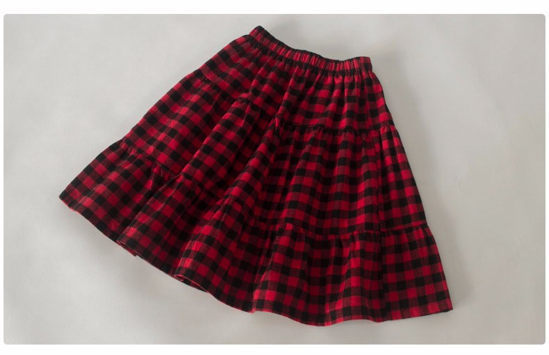 England style long skirts for baby teenage girls red plaid pleated skirt girl 2017 new spring autumn winter children clothing 5 6 7 8 9 10 11 12 13 14 15 16 years old little big teenage girls pleated skirts for kids (13)