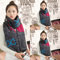 2016 New Fashion infinity Geometric Print Women scarves Knitted Wool Neck Cowl Wrap shawl thicken winter warm Ring Loop scarf