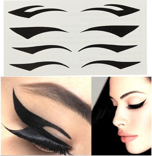 10packs Cat Eye Makeup Black Stripe Makeup Eyeliner ,Double Eyelid Tape,Black Eye Line Stickers ,Make Up Tools SP-1009