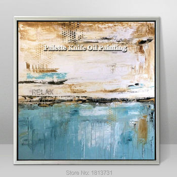 Hand painted canvas oil paintings Cheap large modern abstract oil painting wall decor Art pictures for bedroom 17322-10