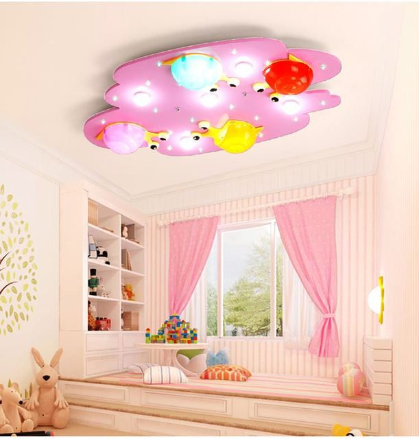 Cartoon kleurrijke slak kinderkamer verlichting plafondlamp meisje ...