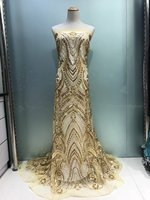 Lastest Swiss Voile Laces African Lace Fabric Gold Nigerian French Fabric 2017 High Quality African Tulle
