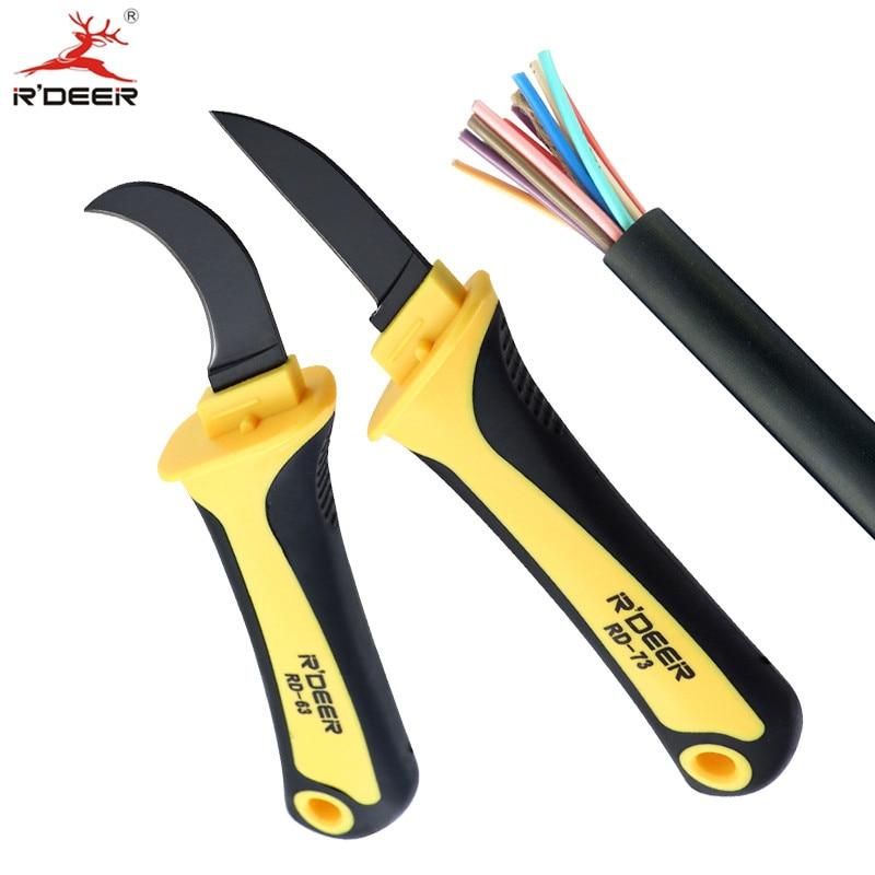 Kabel odizolovací nůž nůž odizolovací elektrikář nože patentovaný háček fixní čepel elektrikář nástroje