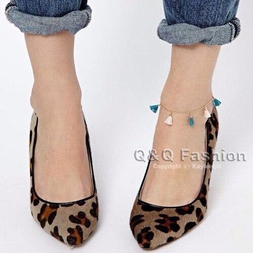 Gold Chain Color String Tassel High heel Ankle Anklet font b Bracelet b font font b