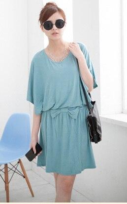 Emotion Moms модная свободная одежда для кормящих мам платья для будущих и кормящих мам для беременных женщин кормление грудью одежда - Цвет: Небесно-голубой