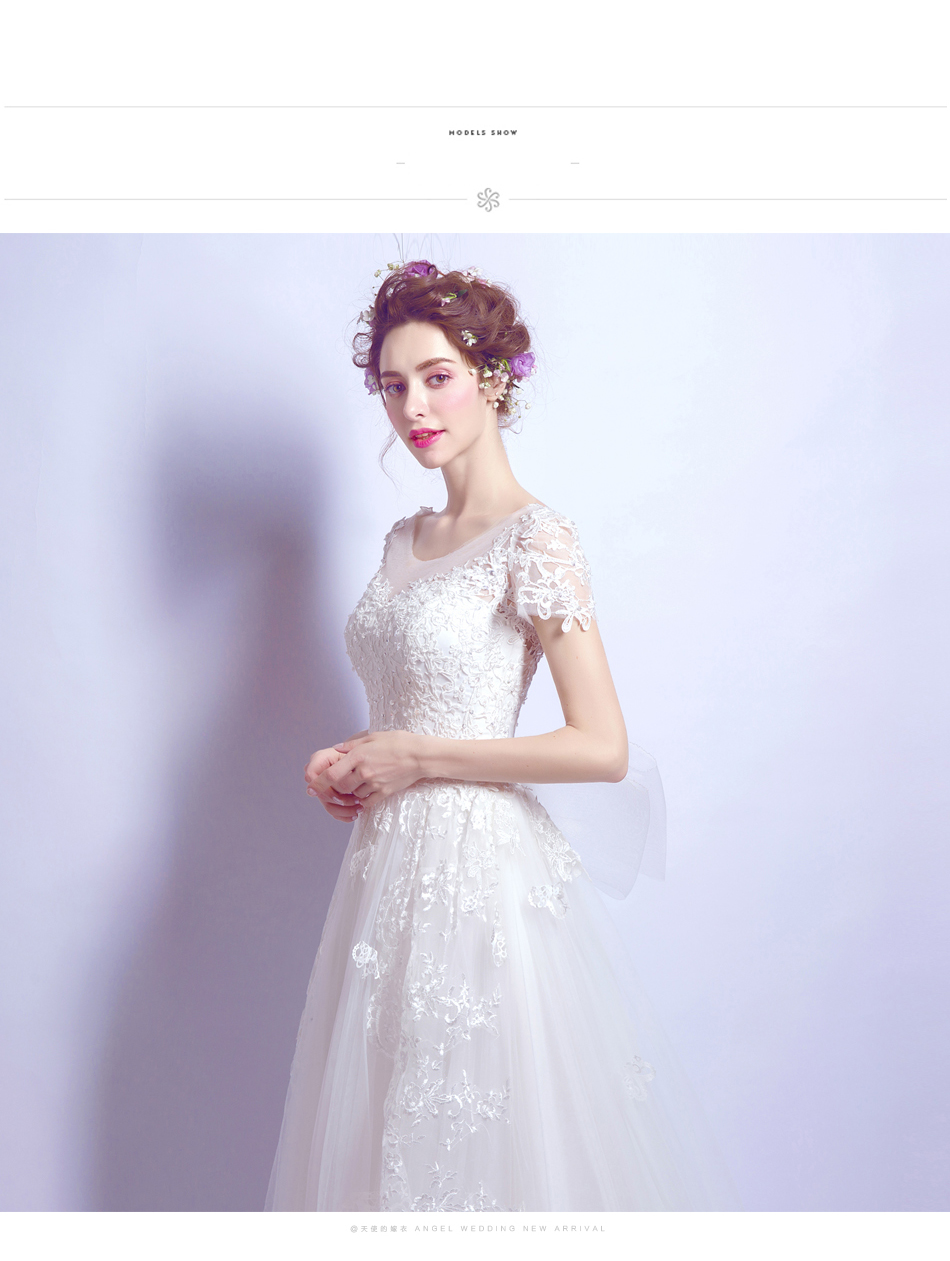 Angel Wedding Dress Marriage Bride Bridal Gown Vestido De Noiva 2017 Bud silk nail bead the small tail big bo 6700 9