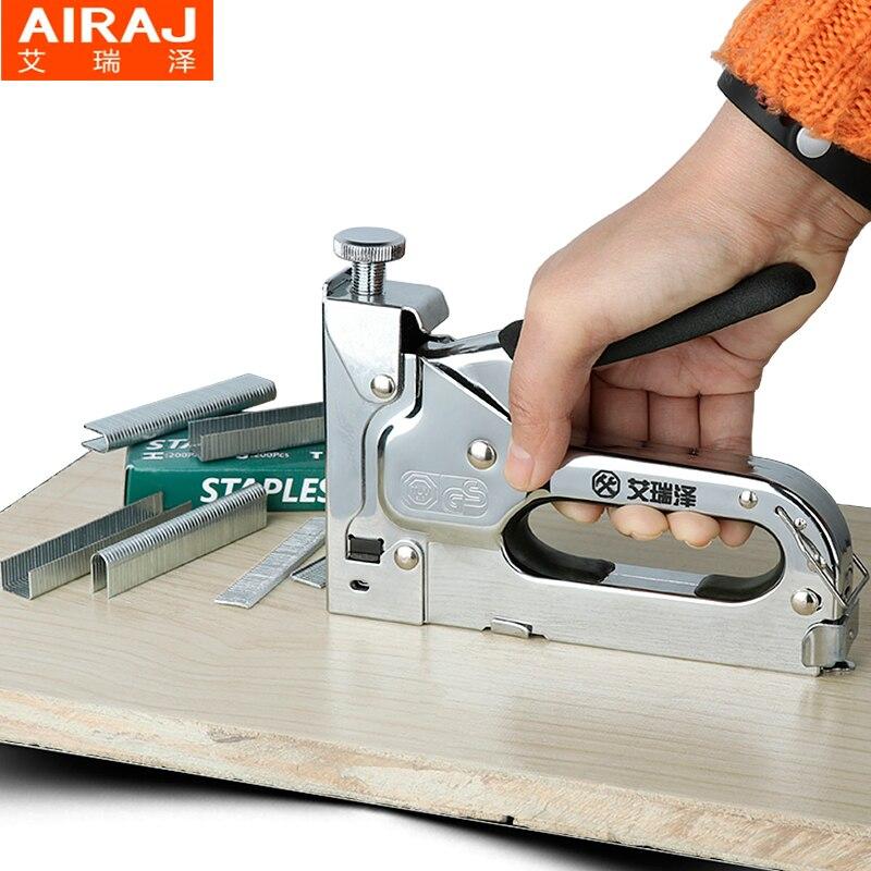 3 way AIRAJ Muebles Grapadora de Alta Resistencia Manual de Mano ...