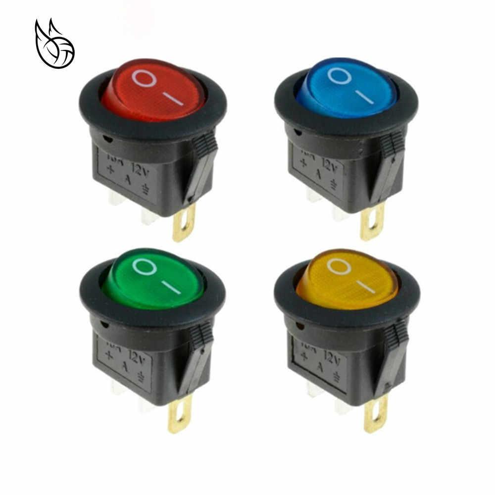 1 шт. 12 В светодиодный перекидной переключатель 20A 12 В кнопочный переключатель Автомобильная подсветка кнопок Вкл/Выкл круглый Кулисный Переключатель тире лодка