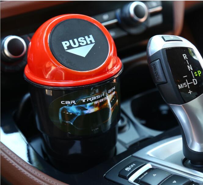 NEW car garbage can Car Trash Can Garbage Dust Case Holder Bin car-styling