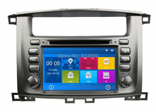 HD 2 din 7″ Car DVD GPS Navigation for Toyota Lander Cruiser 100 With Bluetooth IPOD TV Radio/ RDS SWC AUX IN