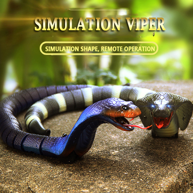 Tricky Toys RC Snake Toy Long Rechargeable Remote Control Snake Toy Realistic Black for Kids Play Toys For Children(China)