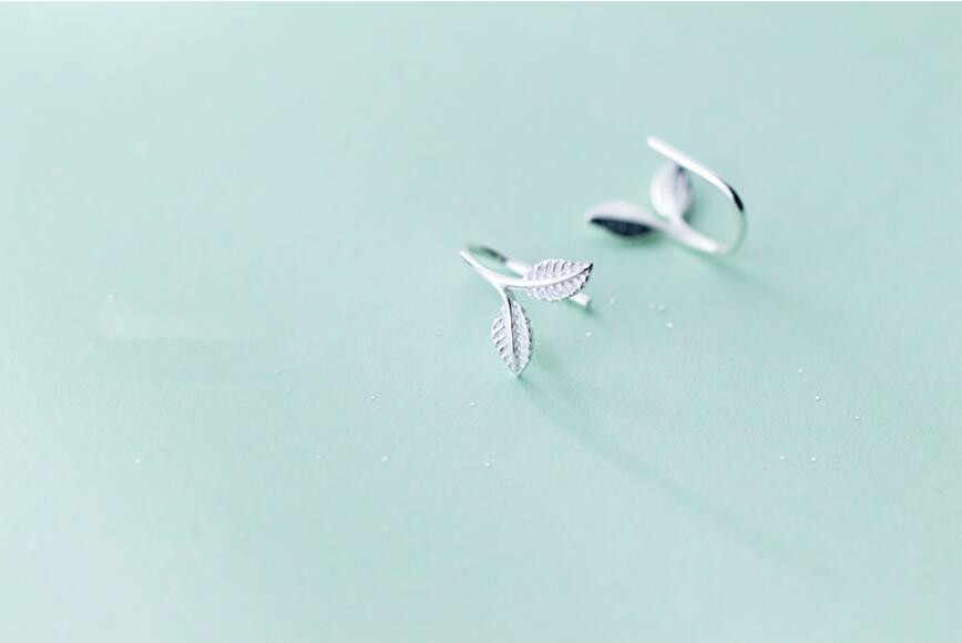 Fashion Warna Perak Daun Anting-Anting Anting-Anting untuk Wanita Wanita Mencegah Alergi Kreatif Wanita Fashion Perhiasan Pendientes Eh847