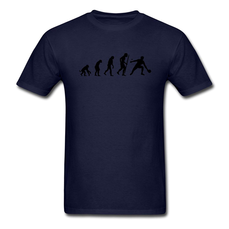 Funny Tee Shirts O-Neck Evolution Ping Pong Men Short Design T Shirts