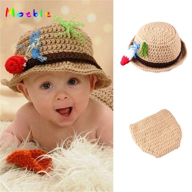 Crochet Baby Fisherman Costume for Photo Shoot Knitted Newborn Photo  Photography Props Fancy Baby Clothes Coming b068dd40def9