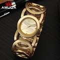 2017 Relógio De Ouro Mulheres Marca De Luxo Pulseira Relógio de Senhoras Da Moda relógio de Pulso de Aço Inoxidável Completa Relógio De Pulso Feminino