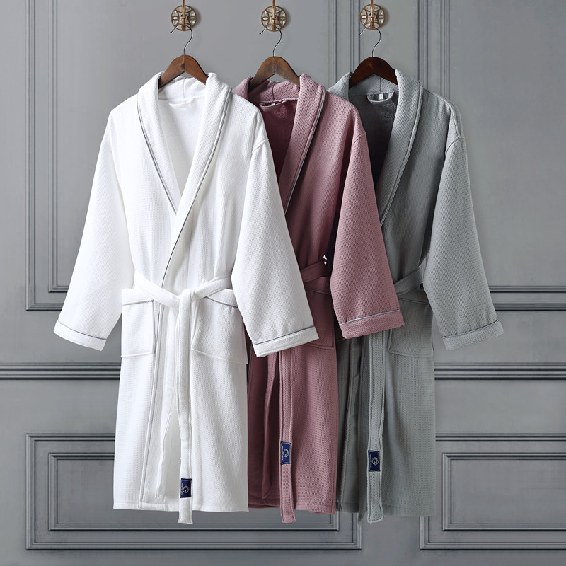 Five star Hotel Thick Warm Winter Bathrobe For Men Women Exquisite Cotton Towel Yukata Long Male
