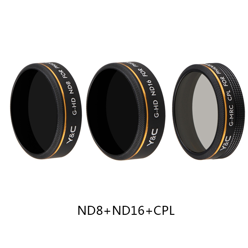 ND8 ND16 CPL Filter Bundle for DJI Phantom 4 Pro 4A Drone,Multi Layer Coating Screw-in Filter for P4P P4A Drone Camera Lens