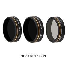 ND8 ND16 CPL Filter Bundle for DJI Phantom 4 Pro V2.0 Advanced Drone HD Optional Glass Screw on Polarizer Neutral Density Filter optional drone bag