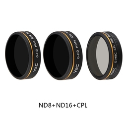 ND8 ND16 CPL Filter Bundle for DJI Phantom 4 Pro V2.0 Advanced Drone HD Optional Glass Screw on Polarizer Neutral Density Filter