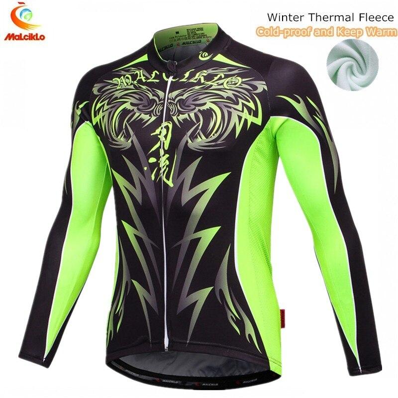 Malciklo Cycling Winter Jacket Bike Fleece Windproof Men Or Boy Men's Keep-Warm