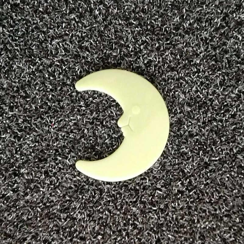 3D dimensio 8 cm estrella luminosa pegatinas fluorescencia Luna de regalo decoración de la casa de dibujos animados originalidad ornamento