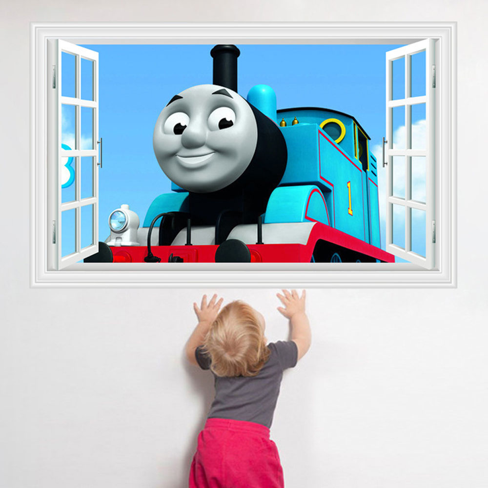 Cute Thomas Train Children S Room Wall Decor Stickers Removable Diy Wall Stikers Kids Room Self