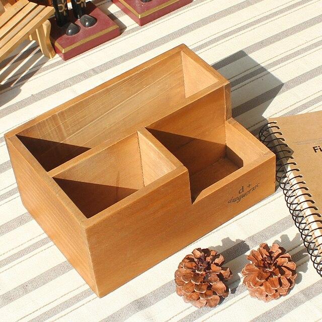 Fantastisch Pastoralen Stil Kreative Holz Fleischige Pflanze Blumentöpfe  Umweltfreundliche Holz Große Kapazität Drei Gitter Aufbewahrungsbox Kreative  Töpfe