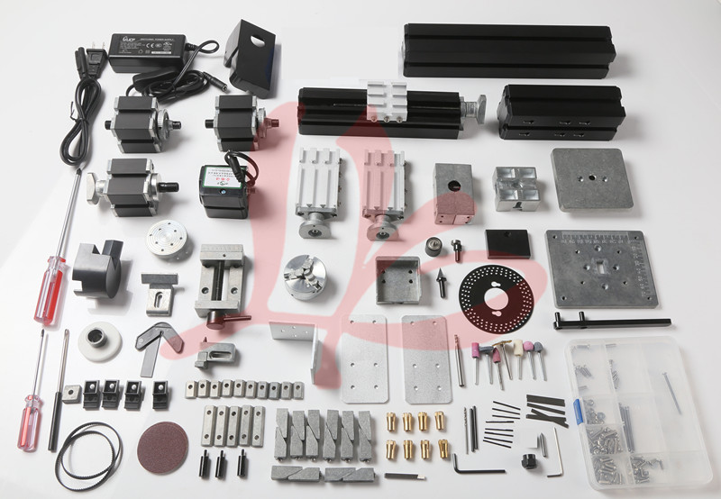 Z8000M Metal 8 In 1 jigsaw,wood-turning ,metal lathe,drilling machine with dividing plate 12000r min 60w all metal 8 in 1 mini lathe without bow arm milling drilling wood turning jag saw sanding machine