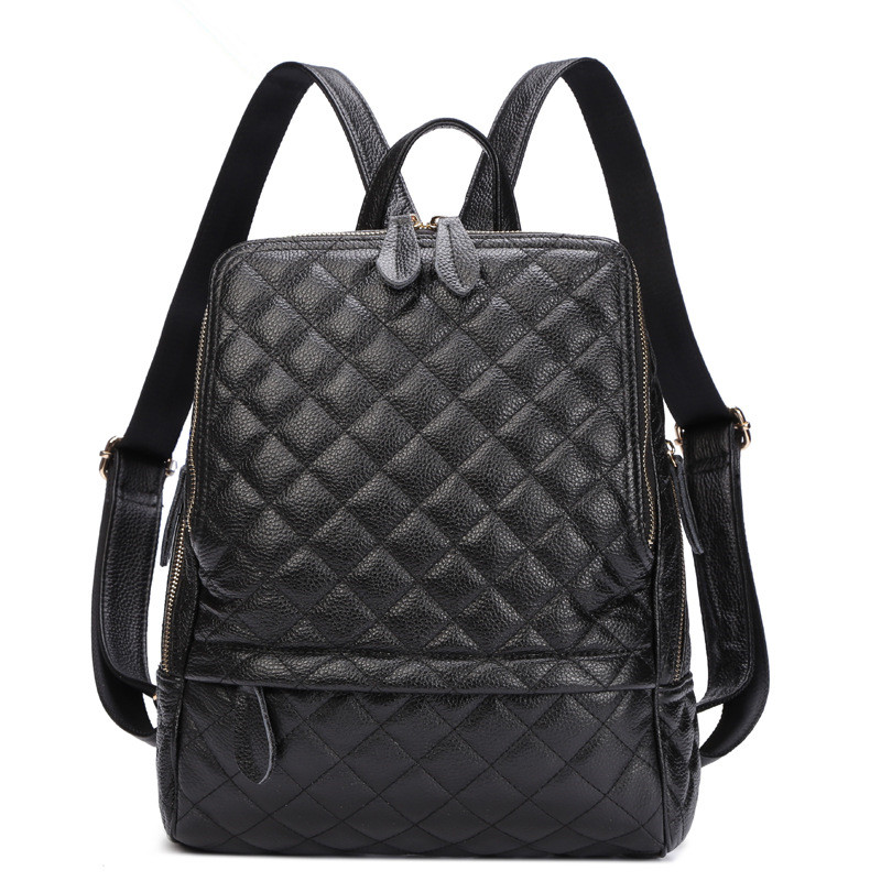 2017 Fashion Brand Women Genuine Leather backpack 4 Colors One Shoulder Bag Traveling Backpack women backpack fashion pvc faux leather turtle backpack leather bag women traveling antitheft backpack black white free shipping